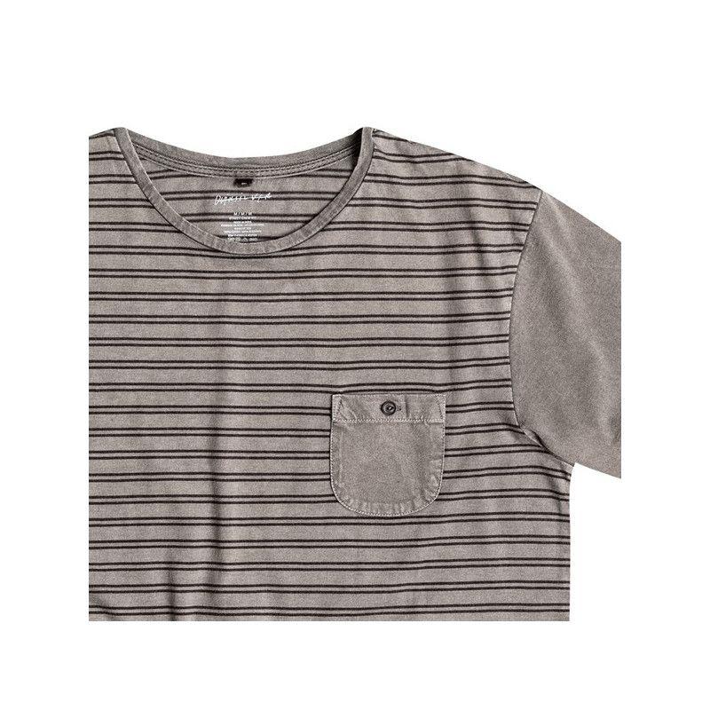 Camiseta Quiksilver: ACID STRIPED (Tarmac)