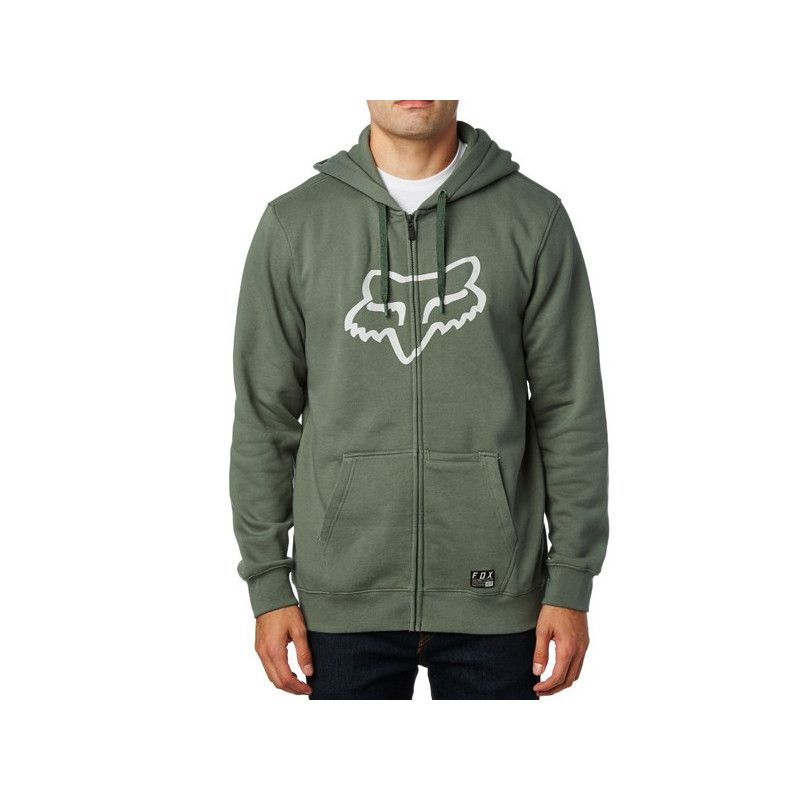 Sudadera Fox: DISTRICT 3 ZIP FLEECE (DRK FAT)