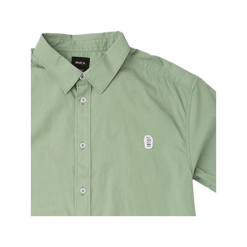 Camisa RVCA: STRESS SS (GREEN HAZE)