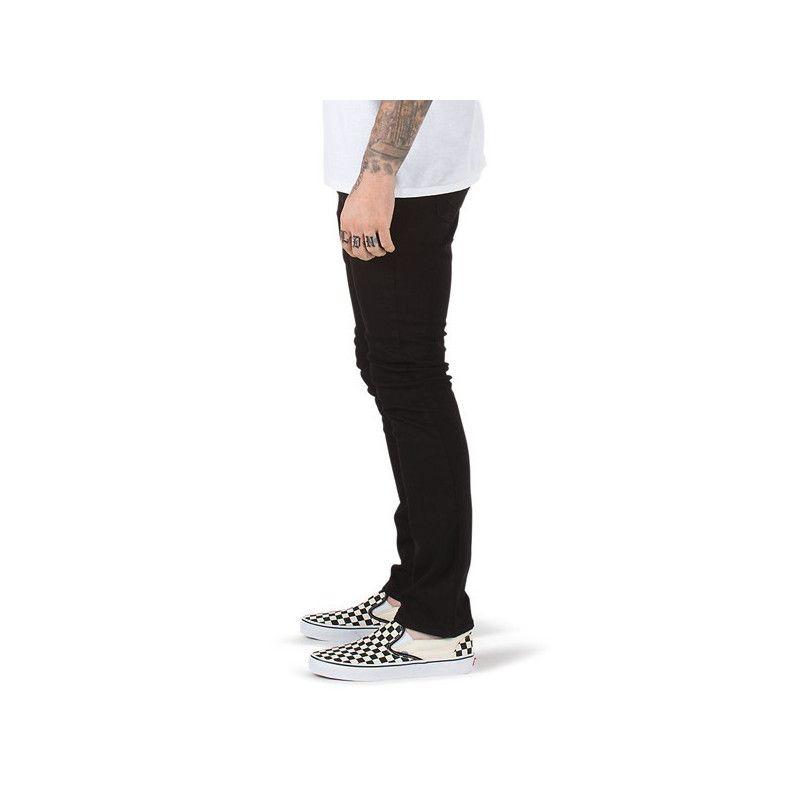 Pantalon Outlet Vans V76 Skinny Overdye Black