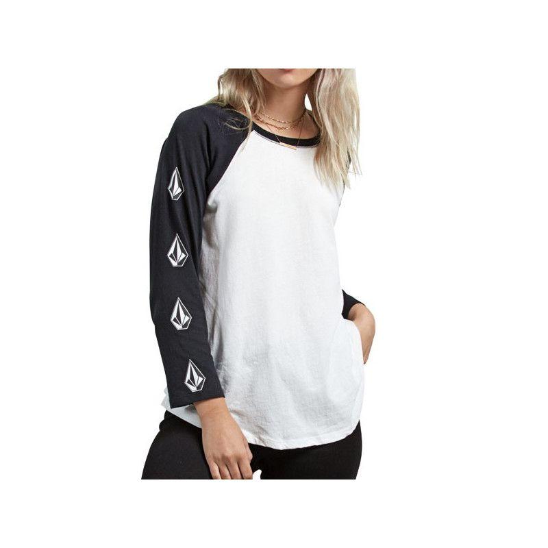 Camiseta Volcom: POP ROCKET RAGLAN (WHITE)