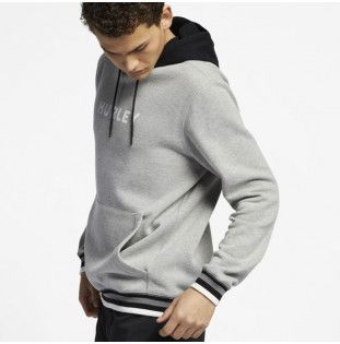 Sudadera Hurley: EAST COAST FLEECE PULLOVER (DARK GRY HTHR)