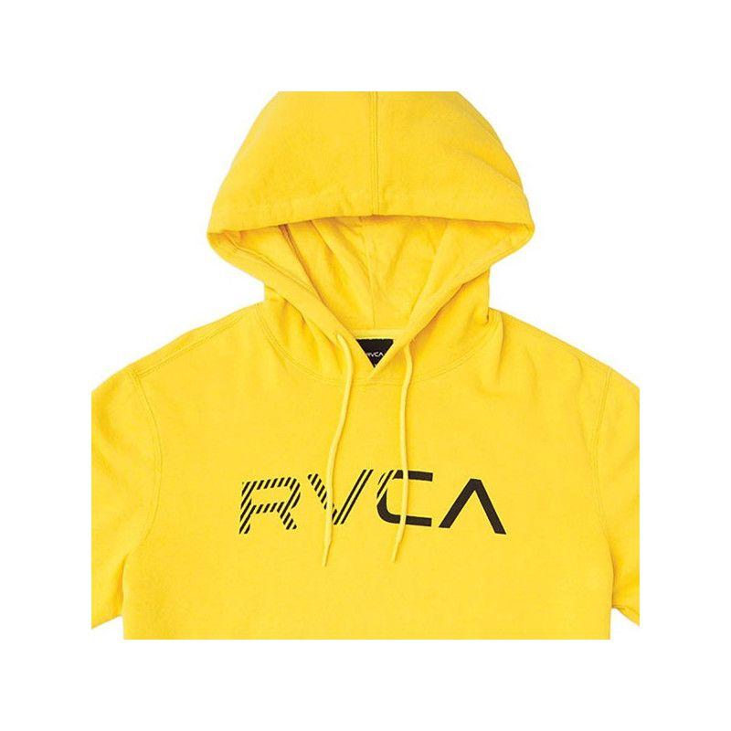 Sudadera RVCA: SCRATCHED RVCA HOODI (LEMON)