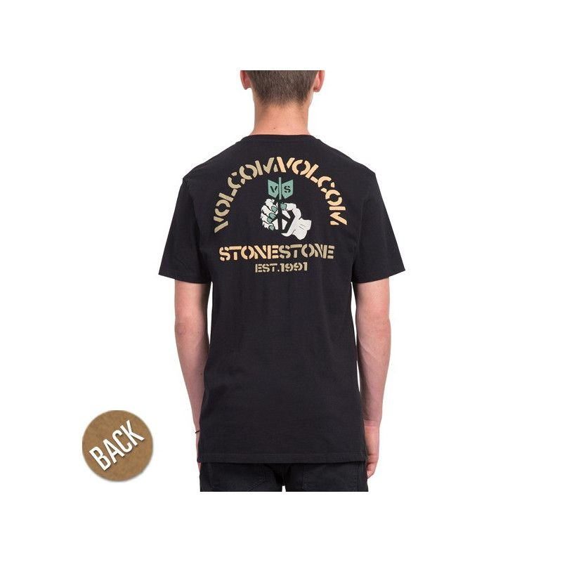 Camiseta Volcom: CHECK TWO LTW SS (BLACK)