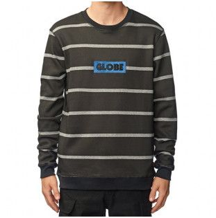 Sudadera Globe: Brickside Crew (Black Stripe)