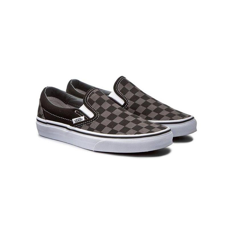 Zapatillas Vans: UA Classic SlipOn (Black Pewter Check)