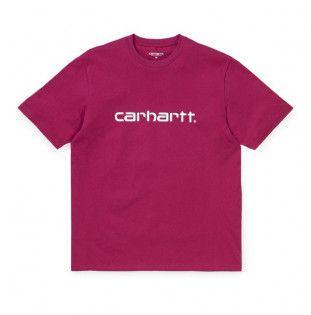 Camiseta Carhartt: SS Script T Shirt (Tango White)