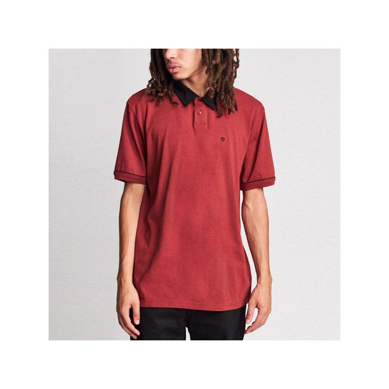 Polo Brixton: CARLOS SS POLO KNIT (BRICK)