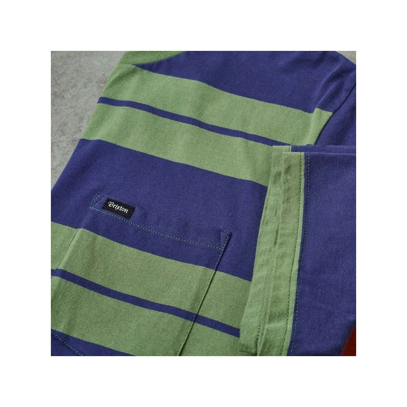 Camiseta Brixton: HILT SS PKT KNIT (LEAF PATRIOT BLUE)