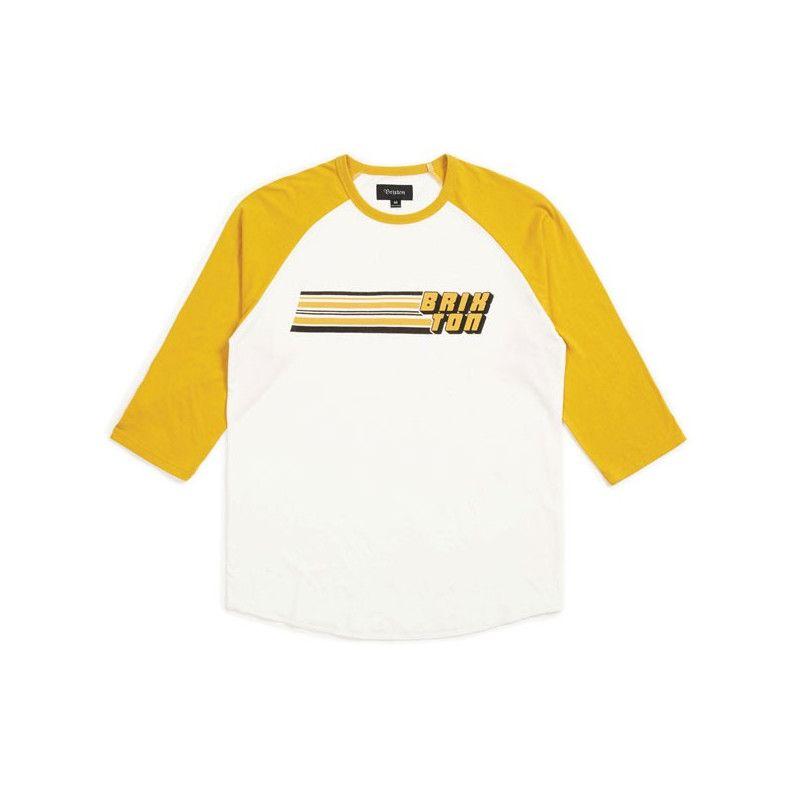 Camiseta Brixton: CHIBA 34 SLV TEE (OFF WHITE GOLD)