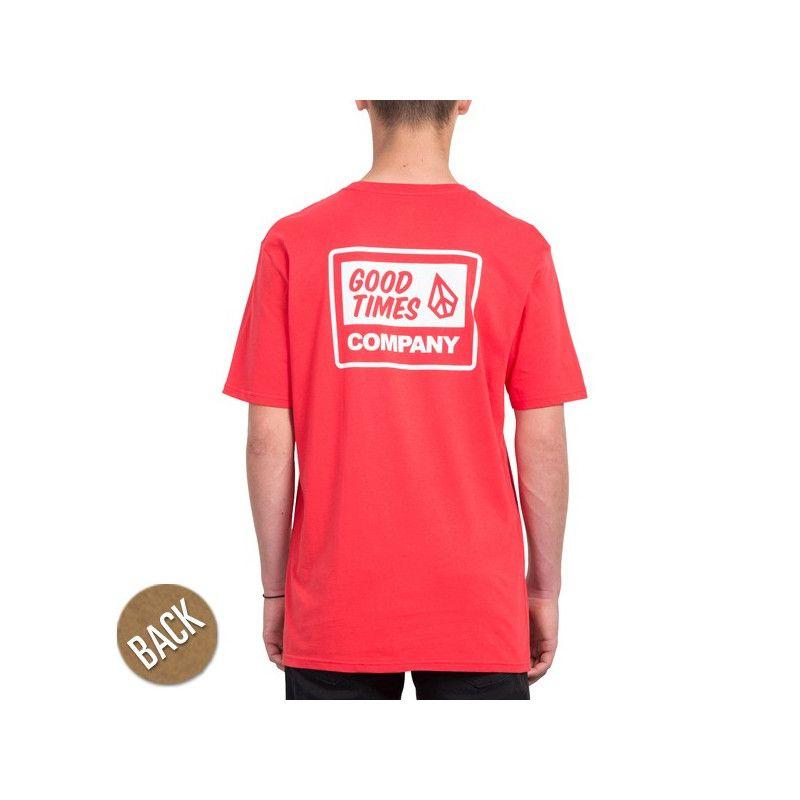 Camiseta Volcom: VOLCOM IS GOOD BSC S (TRUE RED)