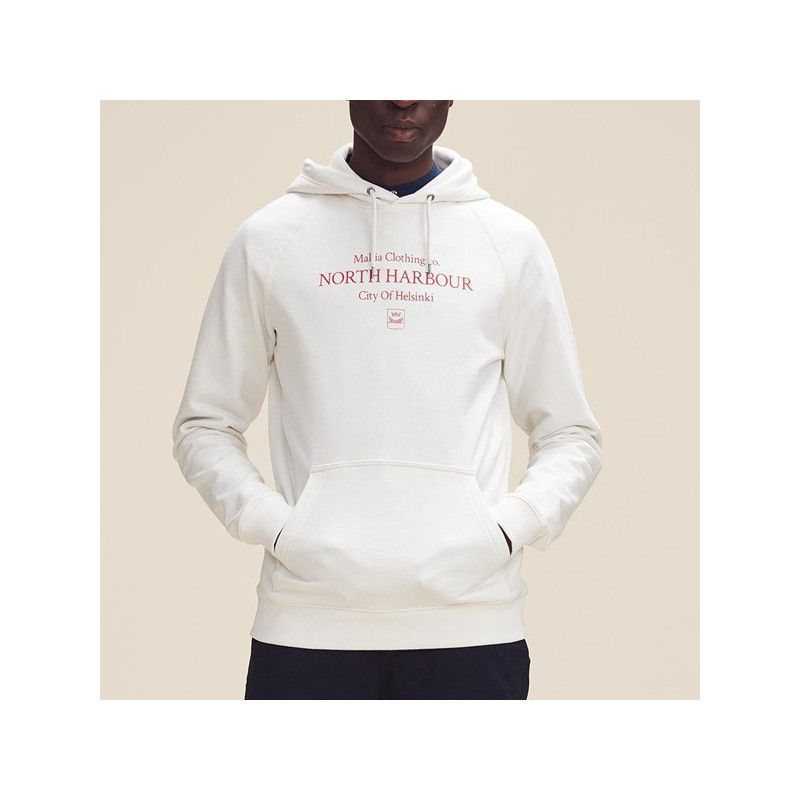 Sudadera Makia: DISTRICT HOODED SWEATSHIRT (WHITE)