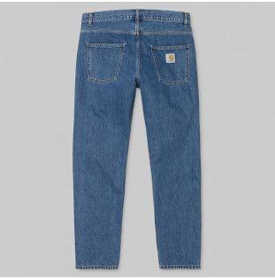 Pantalón Carhartt: Newel Pant (Blue Stone Washed)