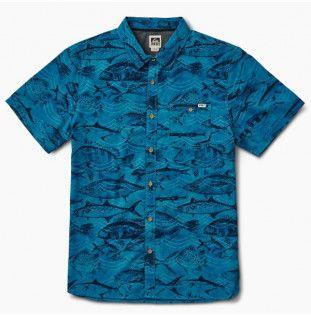 Camisa Reef: REEF FISHY SEAS SS (BLUE)