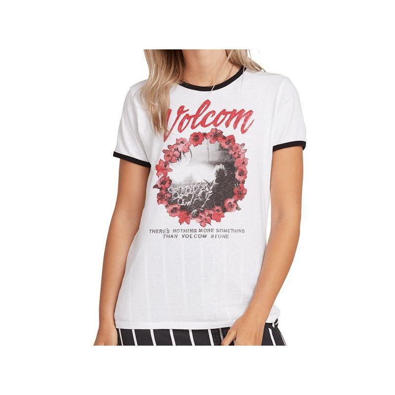 Camiseta Volcom: KEEP GOIN RINGER (WHITE)