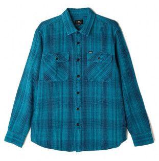 Camisa Obey: KEBLE DENIM WOVEN LS (LIGHT BLUE)