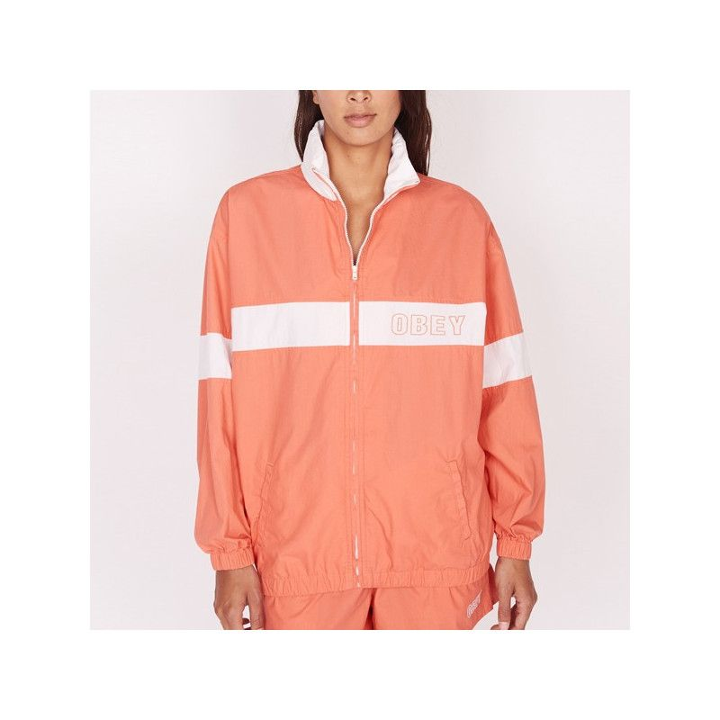 Chaqueta Obey: KENNEDY ZIP UP (CORAL)