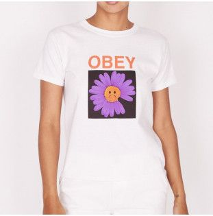 Camiseta Obey: SAD DAISY (WHITE)
