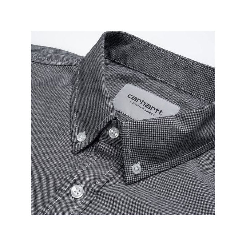 Camisa Carhartt: SS Lancaster Logo Shirt (Black Wax)