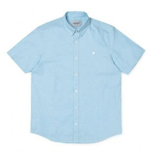 Camisa Carhartt: SS Lancaster Logo Shirt (Capri Wax)