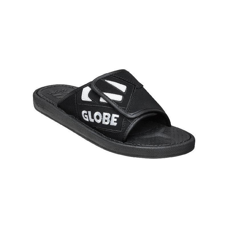 Chanclas Globe: FOCUS BL SLIDE (Black White Black)