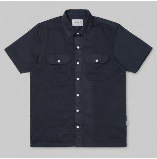 Camisa Carhartt: SS Master Shirt (Dark Navy)