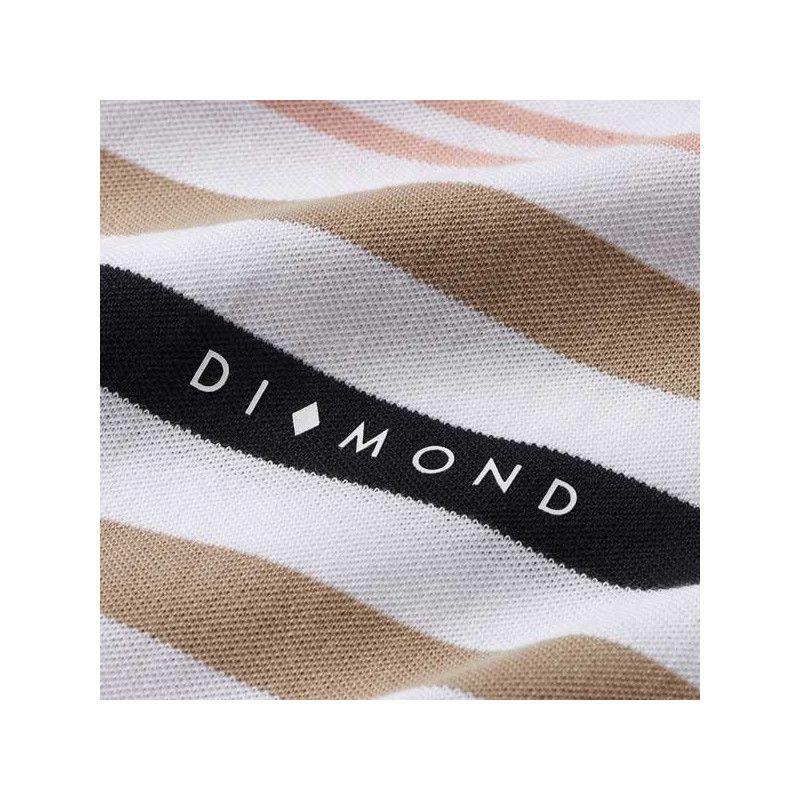 Sudadera Diamond: MARQUISE STRIPED QUARTER ZIP (WHITE)