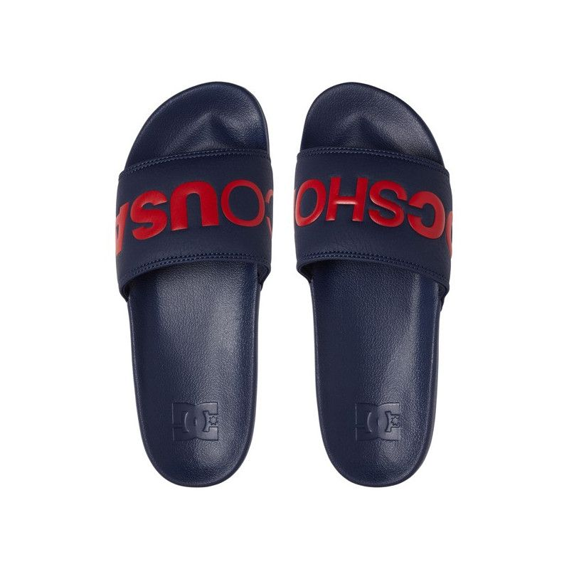 Chanclas DC Shoes: DC SLIDE (NAVY RED)