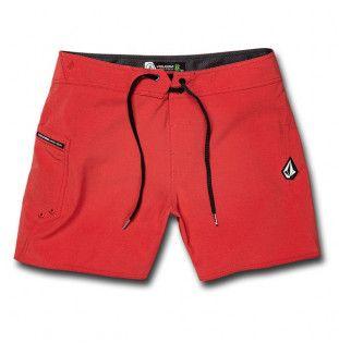 Bañador Volcom: LIDO SOLID MOD 16 (MOTORHEAD RED)