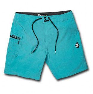 Bañador Volcom: LIDO SOLID MOD 18 (CYAN BLUE)