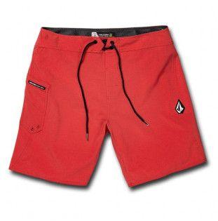 Bañador Volcom: LIDO SOLID MOD 18 (MOTORHEAD RED)
