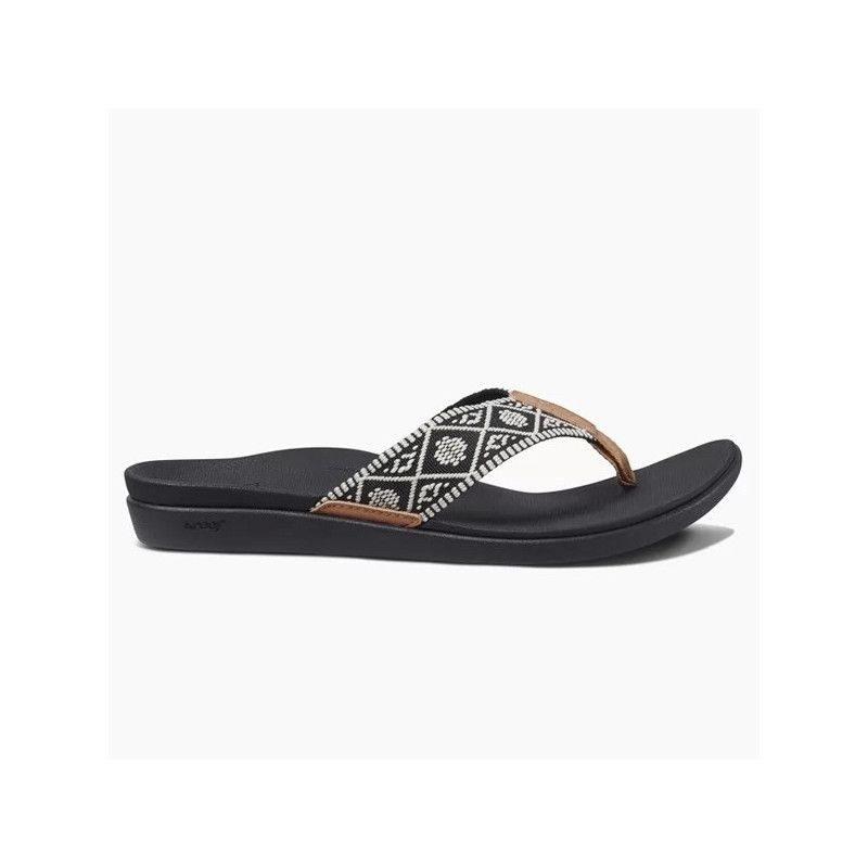 Chanclas Reef: REEF ORTHO-BOUNCE WOVEN (BLACK WHITE)
