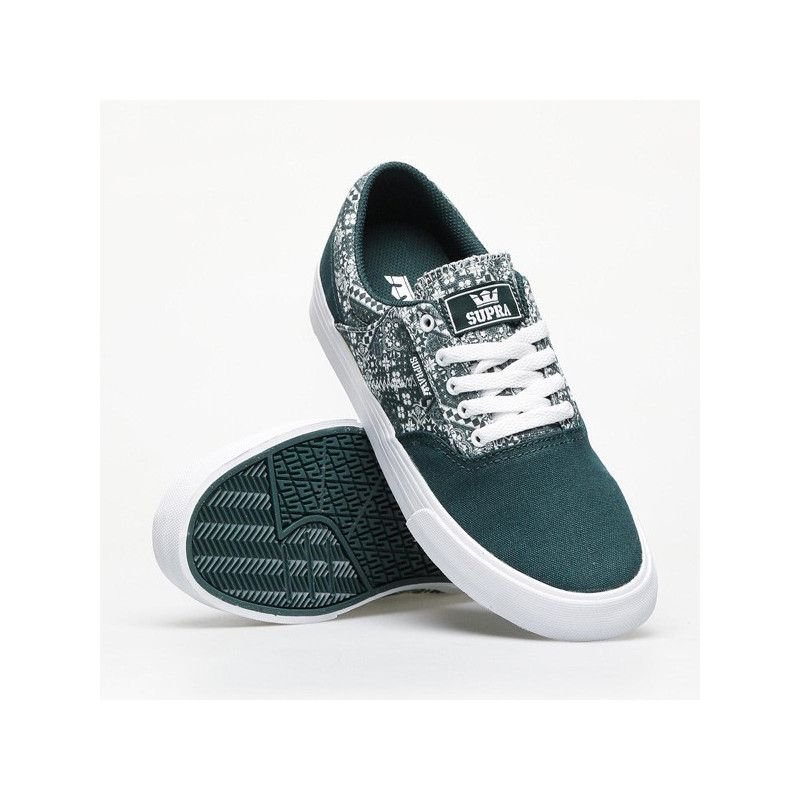 Zapatillas Supra: COBALT (EVERGREEN PRINT WHITE)