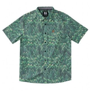 Camisa Hippytree: Spruce Woven (Green)