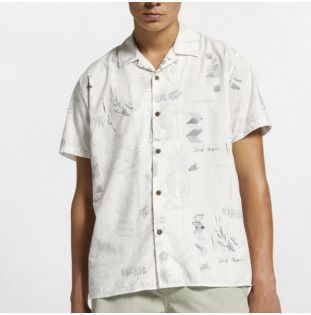 Camisa Hurley: HRLY DOOM TOP SS (SUMMIT WHITE)