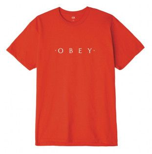 Camiseta Obey: NOVEL OBEY (RED)