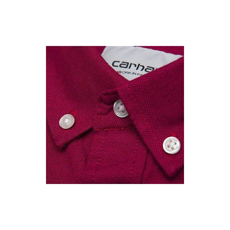 Camisa Carhartt: LS Dalton Shirt (Cranberry Tango)