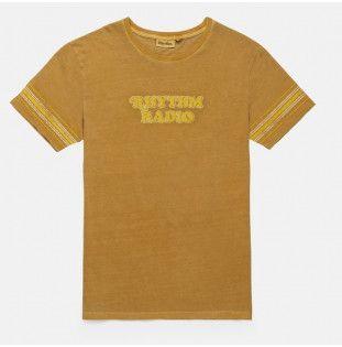 Camiseta Rhythm: COLLEGE RADIO TSHIRT (Washed almond)