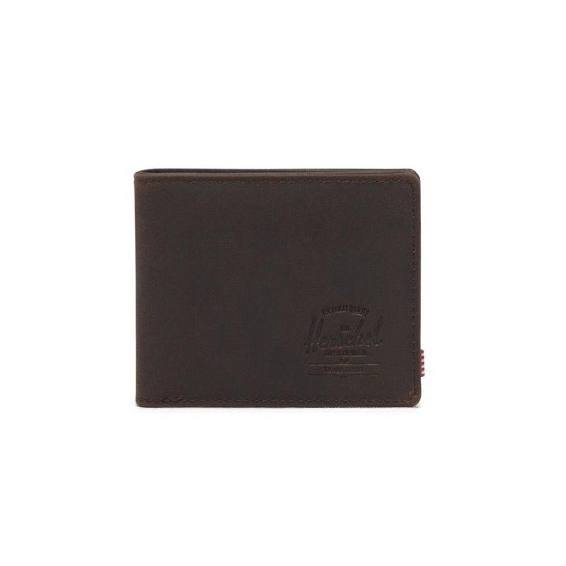 Cartera Herschel: Hank Leather RFID (Nubuck Brown)