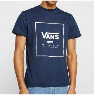 Camiseta Vans: PRINT BOX (DRESS BLUES WHITE)
