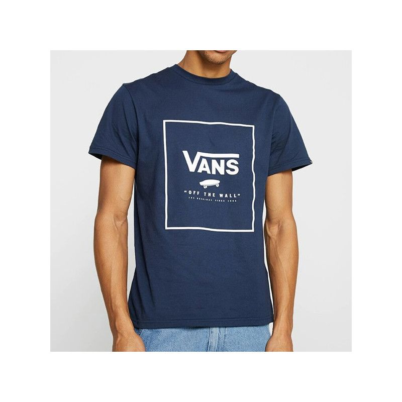 Camiseta Vans: PRINT BOX (DRESS BLUES WHITE)
