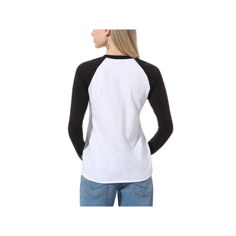 Camiseta Vans: FLYING V CLASSIC LS (White Black)