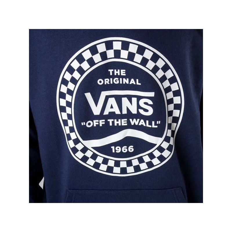 Sudadera Vans: CHECKERED SIDE STRIPE FRONT PO (DRESS BLU)