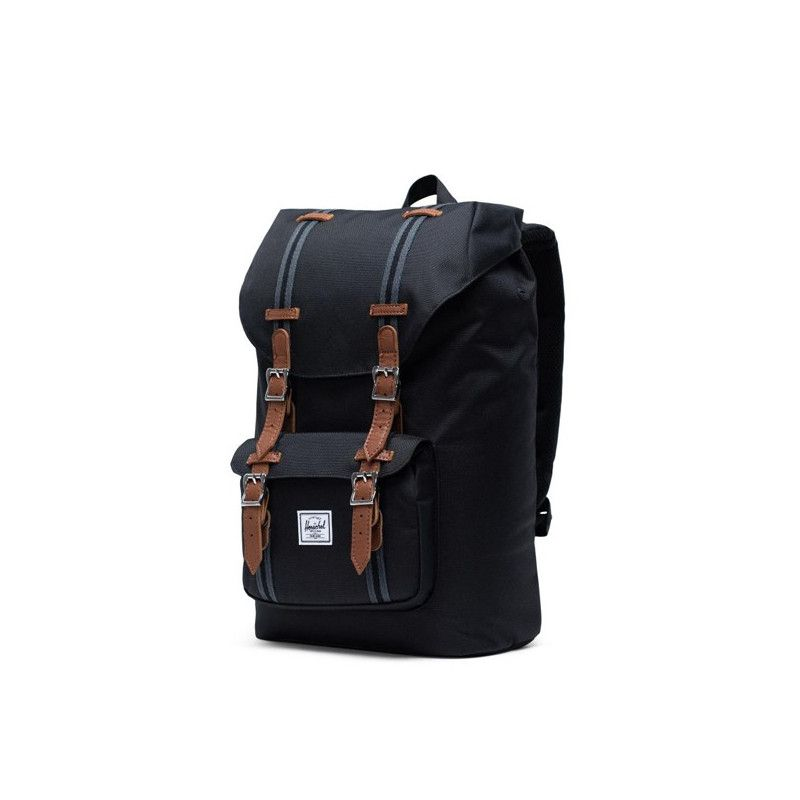 Mochila Herschel: Little America Mid Vol (Black Black Tan)