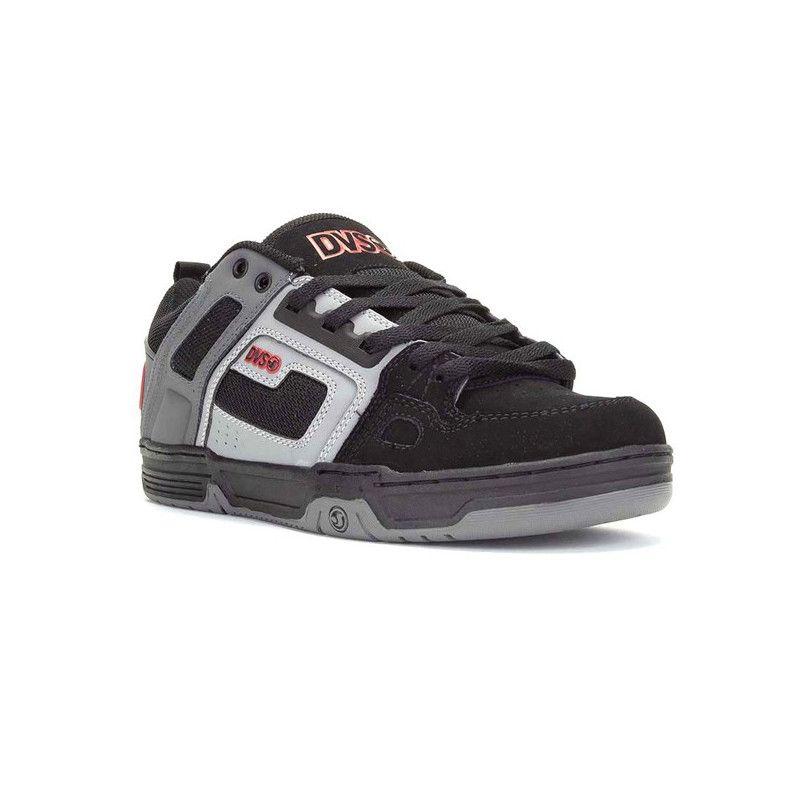 Zapatillas DVS: COMANCHE (BLACK CHARCOAL RED NUBUCK)