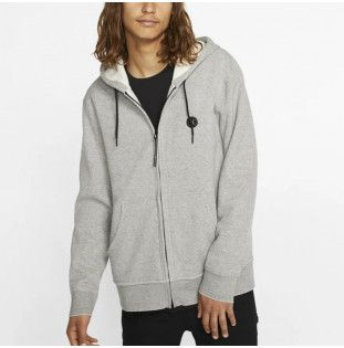Sudadera Hurley: THERMA ENDURE FULL ZIP (DARK GREY HEATHER)