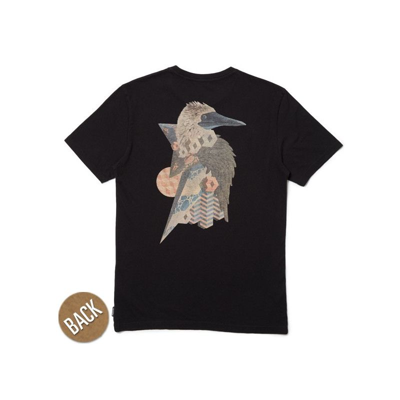 Camiseta Volcom: GIVE BACK FA SS (BLACK)