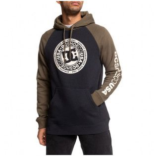 Sudadera DC Shoes: CIRCLE STAR PH (BLK FATIG GREEN ANT WHT) DC Shoes - 1