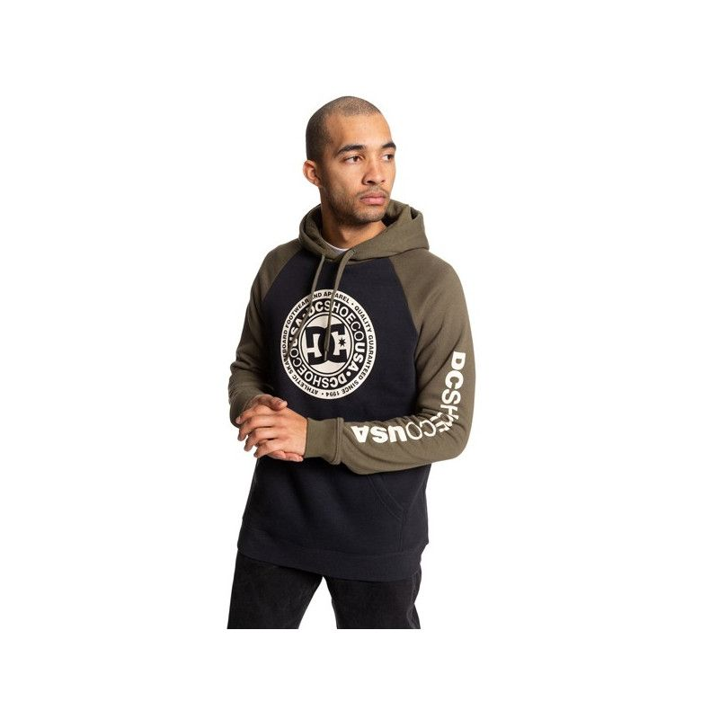 Sudadera DC Shoes: CIRCLE STAR PH (BLK FATIG GREEN ANT WHT)