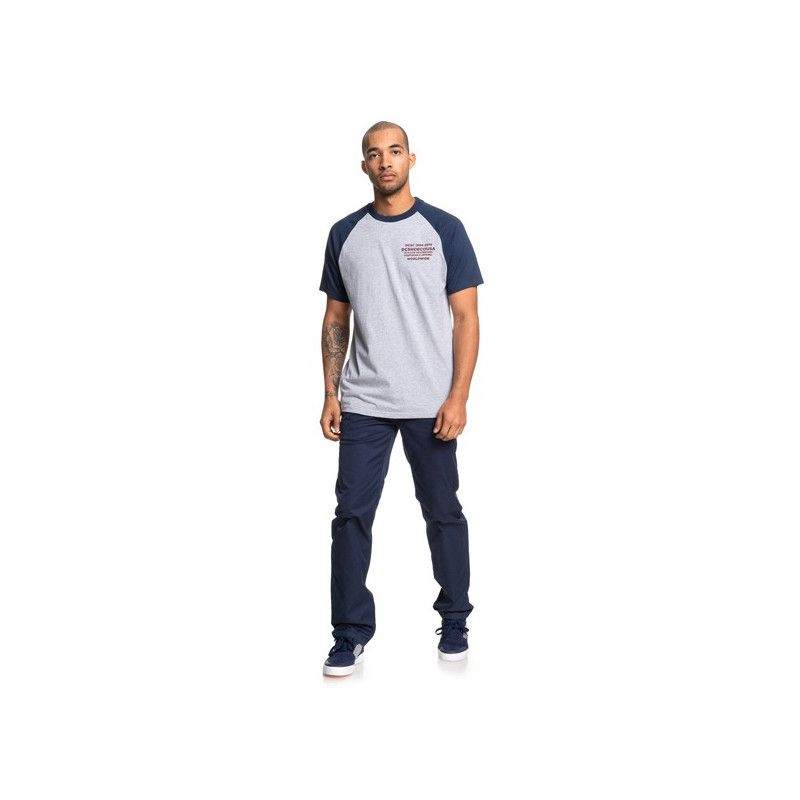 Camiseta DC Shoes: RUSTOPLATO SS R (GREY HEATHER BLACK IRIS)